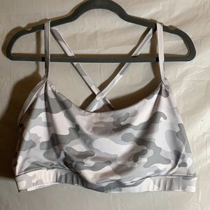 Forever 21 Grey Camouflage Sports Bra
